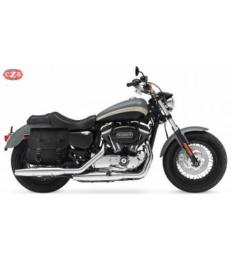 Alforja para Sportster Harley Davidson mod, MULACEN - Hueco Amortiguador - Específica