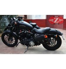 Set de Alforjas HÉRCULES con Porta Botella regulable - Adaptables para Sportster Harley Davidson