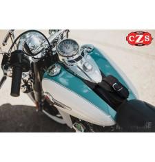 Panneau moto en cuir Vintage pour Softail Harley Davidson mod, DEDALO - Verrouillable -