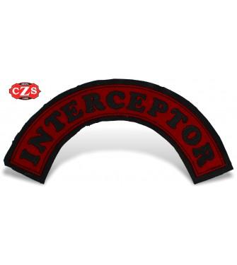 Parche Repujado en Piel mod, Interceptor - Rojo -