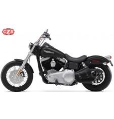 Alforja de basculante para Dyna - Harley Davidson - mod, LEGION - Negro