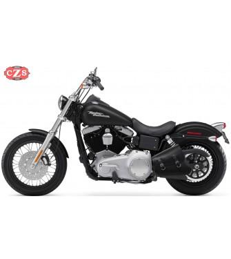 Alforja de basculante para Softail - Harley Davidson - mod, LEGION - Negro