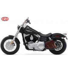 Sacoche de bras oscillant pour Dyna  - Harley Davidson - mod, LEGION - Brun