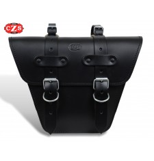 Saddlebag for Classic motorcycles mod, MARBELLA Cafe Racer style - UNIVERSAL - Black