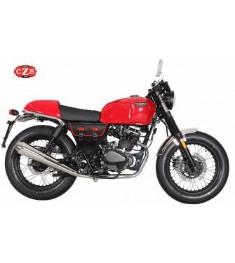 Sacoche pour motos classiques mod, MARBELLA style Cafe Racer - UNIVERSEL - Noir/Blanc