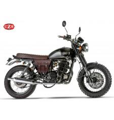 Sacoche Cafe Racer MARBELLA pour motos Mash - Marron