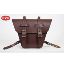 Saddlebag for Classic motorcycles mod, MARBELLA Cafe Racer style - UNIVERSAL - Brown