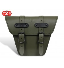 Saddlebag for Classic motorcycles mod, MARBELLA Platoon Cafe Racer style - UNIVERSAL - Military Green