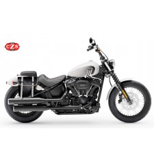 Alforja para Harley Davidson Softail Street Bob 114 (2021) mod, CENTURION - Negro/Blanco - DERECHA