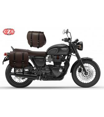 Set de Alforjas para Triumph Bonneville T100 mod, BANDO Moka - Adaptables - Mokka