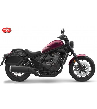 Alforjas Rígidas para Honda Rebel CMX  300-500-1100 mod, ECLIPSE - Gotika -