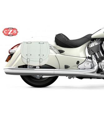 Set de Alforjas para Indian® Cheif® Classic mod, BANDO Básica Específica - Blanco -