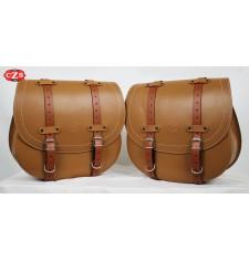 Set di borse laterali mod, BANDO di base UNIVERSALE - Cammello/Marrone chiaro -