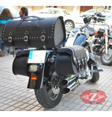 Baúl Custom Rígido para Softail Deluxe Harley Davidson mod, DOSCAS Clásico Celtic - Coco -