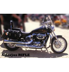 Saddelbags for Honda Black-Widow mod, RIFLE Classic