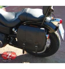 Satteltasche für Dyna Harley Davidson mod, BANDO Basis - Hohl für Stoßdämpfer - LINKS