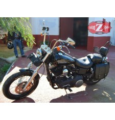 Sacoche pour Street Bob Dyna Harley Davidson mod, BANDO Basique - Creux Amortisseur - Spécifique GAUCHE