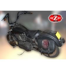 Sacoche Latéral pour Softail Harley Davidson mod, SPARTA - Crâne - Spécifique