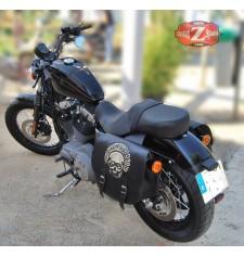 Juego de Alforjas para Sportster Harley Davidson mod, SPARTA - HD Skull - Adaptables