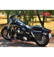 Alforja para Dyna Fat-Bob Harley Davidson mod, CENTURION Adaptable - IZQUIERDA