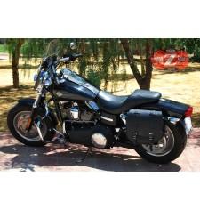 Alforja para Fat-Bob Dyna Harley Davidson mod, BANDO Básica - Hueco amortiguador - Espécífica IZQUIERDA