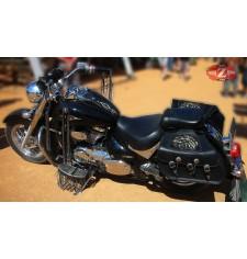 Alforjas Rígidas para Yamaha Drag-Star mod, SUPER STAR Básica - Cabeza Águila - Trenzados Específica