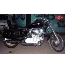 Alforjas Rígidas para Sportster Harley Davidson mod, IBER Básica Trenzados - Águila Alas - Adaptables
