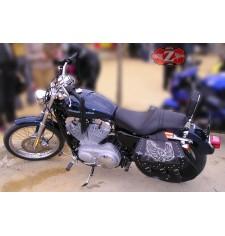 Sacoches Rigide pour Sportster Harley Davidson mod, IBER Classique Tressés - Aigle - Adaptable