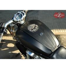Panneau moto en cuir pour V-Road Muscle Harley Davidson - Skull Face -