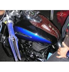 Panneau moto en cuir pour Suzuki Intruder C800 Classique - Brun -