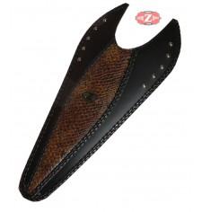 Panneau moto en cuir mod, ITALICO Classique - Brun Croco - UNIVERSEL