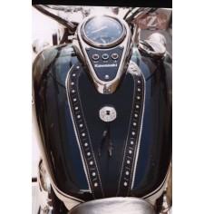 Panneau moto en cuir pour Kawasaki Vulcan 900 mod, ITALICO Classique - Ajourés -