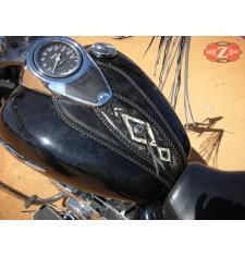 Panneau moto en cuir pour Suzuki Intruder C800 mod, ITALICO Celtic -  Tribaux - UNIVERSEL