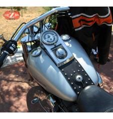 Panneau moto en cuir pour Fat Boy Harley Davidson mod, DEDALO - Classique