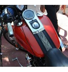 Panneau moto en cuir pour Fat Boy Harley Davidson mod, DEDALO Celtic Vintage