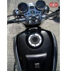 Panneau moto en cuir pour Hyosung Aquila GV250 Basique