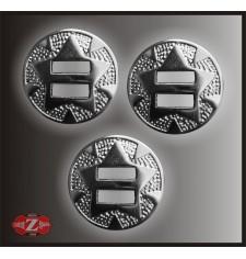 Conchos chrome moyen - 3 unités -