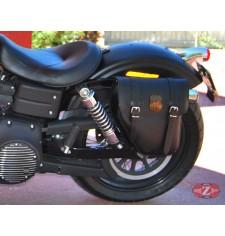 Sacoche pour Dyna Street Bob Harley Davidson mod, CENTURION Spécifique - Route 66 - GAUCHE