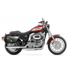 Sacoches pour Sportster Harley Davidson mod, ALHAMA Tressé - Croco - Adaptable