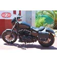 Set de Alforjas para Sportster Harley Davidson mod, BANDO Básica - Hueco amortiguador -