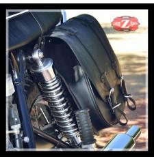 Satteltasche für Triumph Bonneville T100/T120 mod, BANDO Basis - Hohl für Stoßdämpfer - Anpassungsfähig - LINKS -