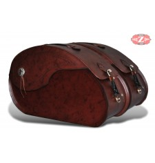 Rigid Saddlebags mod, NAPOLEON Basic - Brown - UNIVERSAL