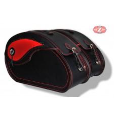 Rigid Saddlebags mod, NAPOLEON - Red Ornament - UNIVERSAL