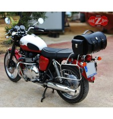 Custom Trunk for Triumph Bonneville T100/T120 mod, TARRACO Celtic - 1 Concho - Pockets - Adaptable