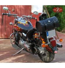 Coffre Custom pour Drag Star 1100 Yamaha mod, TARRACO Classique - 3 conchos - Spécifique