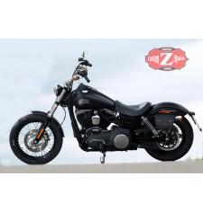 Satteltasche für Dyna FXDB Street Bob Harley Davidson mod, CALYSTO Anpassungsfähig