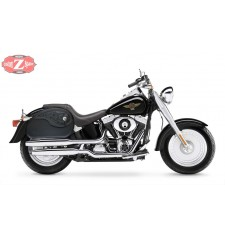 Sacoches Rigide pour Fat Boy Harley Davidson mod, NAPOLEON - Gothique -