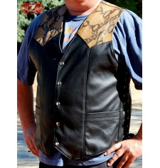 Custom leather vest mod, PYTHON 1