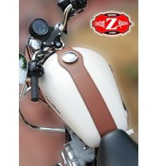Panneau moto en cuir pour Sportster Harley Davidson Basique - Brun Claire -