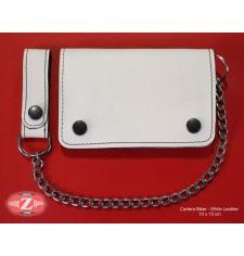 Portefeuille Basique avec Chaîne en metal (10 x 15 cm) - Blanc -